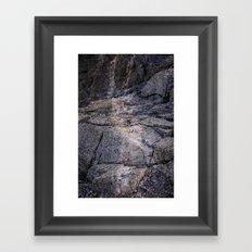 desert rocks Framed Art Print