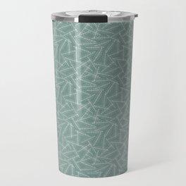 Laurel leaves sketch (green background) Travel Mug