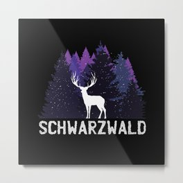 Black forest deer gift Metal Print