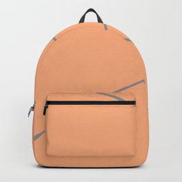 Orange and Silver Lines Backpack