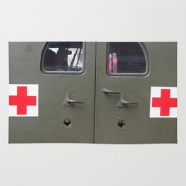 red cross Rug