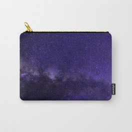 Galaxy, Space, Stars, Blue, Pink, Abstract, Nature, Art, Modern, Wall art Print Carry-All Pouch