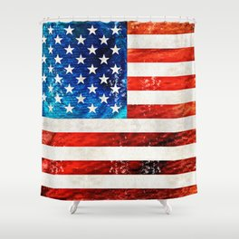 American Flag Art - Old Glory - By Sharon Cummings Shower Curtain