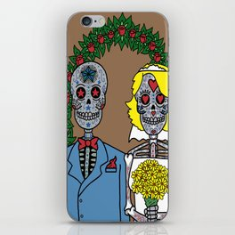 Day of the Dead Bride & Groom Portrait iPhone Skin