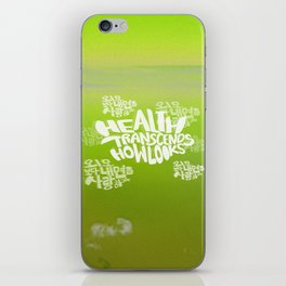 Health Transcends – Lime iPhone Skin