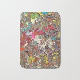 Abstract Acrylic Palette Knife painting Bath Mat