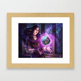 Thinking of Geralt Framed Art Print
