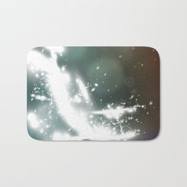 abstract background with highlights Bath Mat