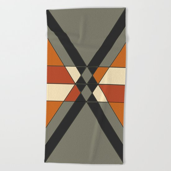 Tribal Geometry #1 Beach Towel