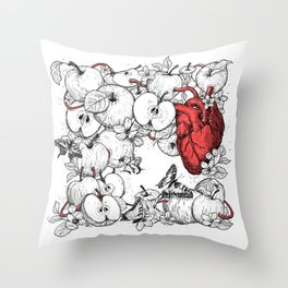 coronary apples Throw Pillow