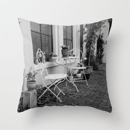 City Garden scenery Throw Pillow