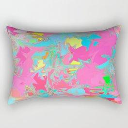 pink oil slick Rectangular Pillow