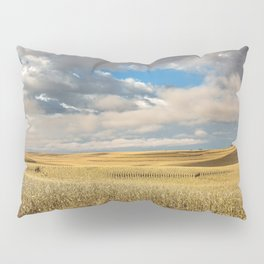 Iowa in November - Golden Corn Field in Autumn Pillow Sham