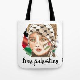 Free Palestine in watercolor Tote Bag