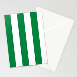 Classic Cabana Stripes in White + Kelly Green Stationery Cards