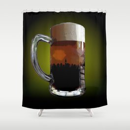 Big Beer Shower Curtain