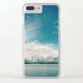 Nautical Tetons Clear iPhone Case