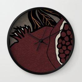 Relentless Love - Pomegranate No 03 Wall Clock