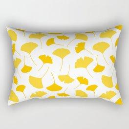 Yellow Ginkgo Leaf Seamless Pattern Rectangular Pillow