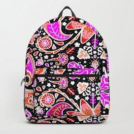 Pysanky Paisley Floral in Black Backpack