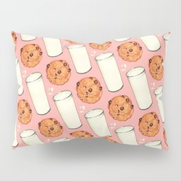 Milk & Cookies Pattern - Pink Pillow Sham