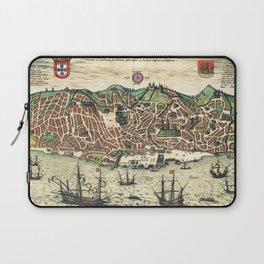 Lisbon map Laptop Sleeve