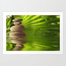 Exotic pebbles Art Print