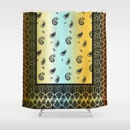 Sunset Paisley Bandana Shower Curtain