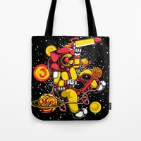 space jam Tote Bags featuring Space Jam DJ by playhouse