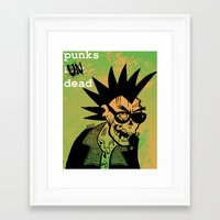 ramones Framed Art Prints featuring Punks Undead by alex CADY