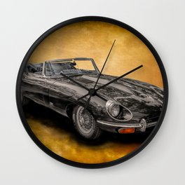 Jaguar E-Type 4.2 convertible Wall Clock