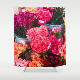 All The Carnations Shower Curtain