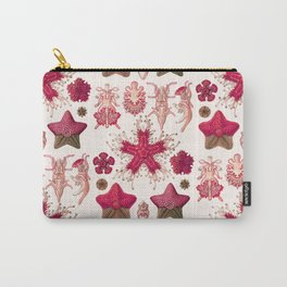 Ernst Haeckel - Scientific Illustration - Asteroidea (Red) Carry-All Pouch