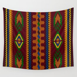 Arabic, ethnic ornament, pattern, mosaic, embroidery. Wall Tapestry