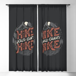 Hike Your Own Hike Blackout Curtain