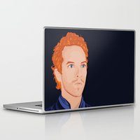 coldplay Laptop & iPad Skins featuring Chris Martin by Gabriele Lerna