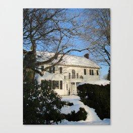 Snowy Home Canvas Print
