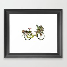 Flower-bike Framed Art Print