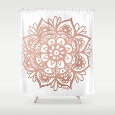 Rose Gold Mandala Shower Curtain