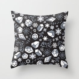 Winter diamonds Throw Pillow