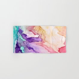Color My World Watercolor Abstract Painting Hand & Bath Towel