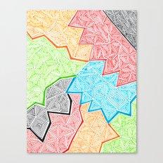 Trianglez Canvas Print