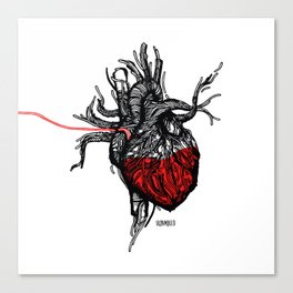 Wired Heart Canvas Print