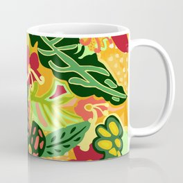 The Life Of Plants - Red Gold and Green Coffee Mug