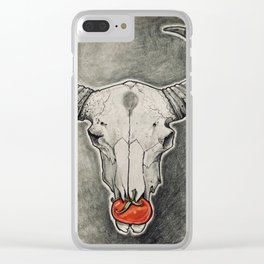 Tomato Skull Clear iPhone Case