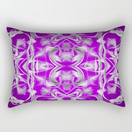 dark purple and silver Digital pattern with circles and fractals artfully colored design for house Rectangular Pillow
