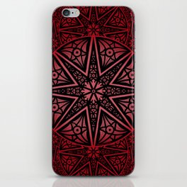 rashim red star mandala iPhone Skin