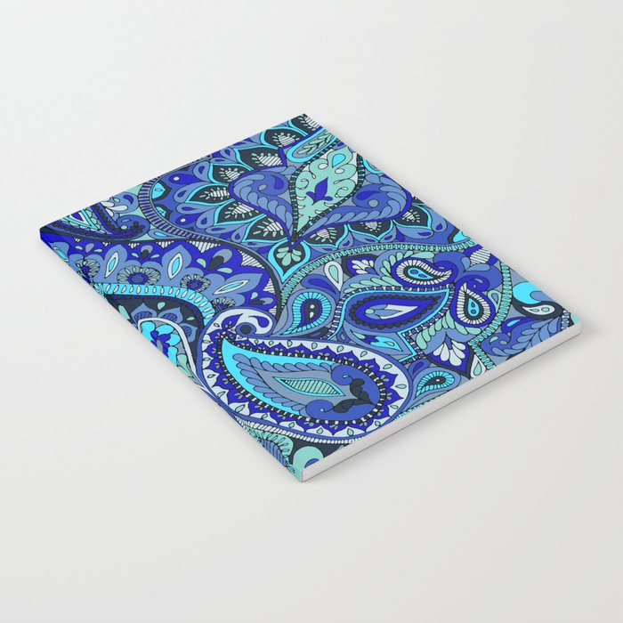 Paisley Blue Notebook
