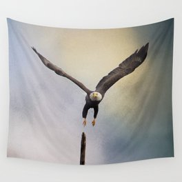 Lift Off - Bald Eagle Wall Tapestry