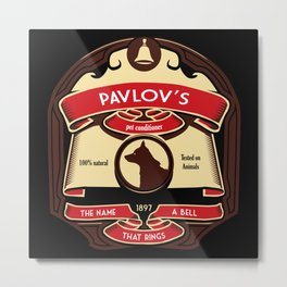 Pavlov's Conditioner Metal Print